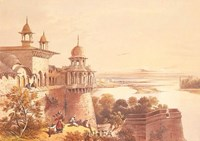"Palace and Fort at Agra by David Roberts - 22"" x 18"" - $14.99"