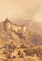 """Hill Fort of Ghulab Sinj by David Roberts - 16"""" x 22"""", FulcrumGallery.com brand"""