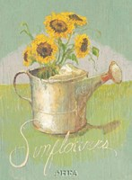 Watering Can with Sunflowers Fine Art Print