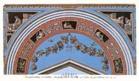 Detail/Loggia in the Vatican IV Framed Print