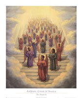 "Gospel Choir of Angels by Tim Ashkar - 21"" x 25"""