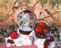 "Grapes and Pomegranates by Francie Botke - 22"" x 19"""