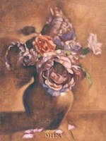 "Vintage Chic Roses I by Linda Hanly - 20"" x 26"""
