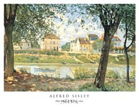 "Petit Village de Bords de Seine by Alfred Sisley - 21"" x 16"""