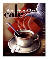 "Cafe de Matin by Michael Kungl - 18"" x 22"""