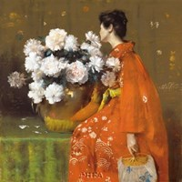 "Spring Flowers by William Merritt Chase - 16"" x 16"""