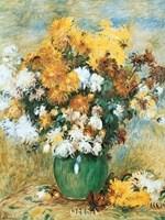 Vase of Chrysanthemums Fine Art Print