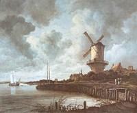 Windmill Near Wijk Fine Art Print