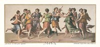 "Dance of the Muses by Julius Romanus - 28"" x 18"""
