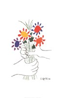Bouquet with Hands Fine Art Print