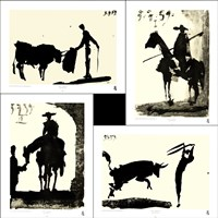 Picasso's Bullfight Set (set of four prints each 14.5 x 19.5) Fine Art Print