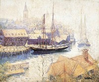 Gloucester Harbor, 1913 Fine Art Print