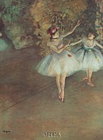 Two Dancers Fine Art Print