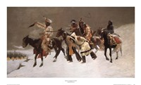 "Return of the Blackfoot War Party by Frederic Remington - 33"" x 20"""