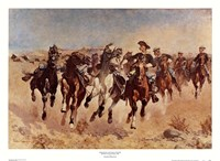"Dismounted: The Fourth Troopers by Frederic Remington - 26"" x 19"""