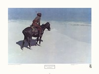 """The Scout: Friends or Enemies by Frederic Remington - 29"""" x 22"""", FulcrumGallery.com brand"""