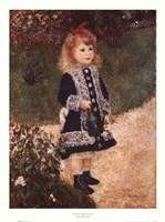 """Girl with a Watering Can by Pierre-Auguste Renoir - 20"""" x 27"""""""