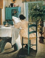 "At Breakfast by Lauritz Ring - 22"" x 28"""