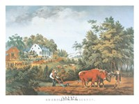 "American Farm Scenes by Currier and Ives - 29"" x 22"""