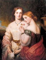 "Two Victorian Beauties by Charles Baxter - 22"" x 28"""