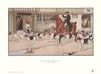 "A Hunting Morning by Cecil Aldin - 28"" x 21"""