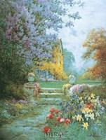 "Lilacs & Iris by Alfred De Breanski - 18"" x 24"""