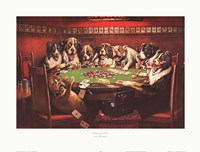 "Poker Sympathy by Cassius Marcellus Coolidge - 25"" x 19"""