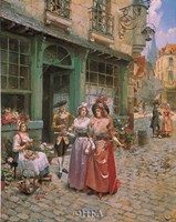 "Promenade in the Time of Louis XVI by Victor Henry Lesur - 22"" x 28"""