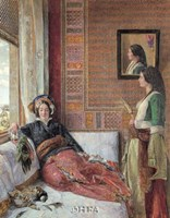 """Hareem Life, Constantinople by J. Lewis - 21"""" x 28"""""""