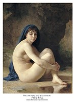 """Seated Nude by William Adolphe Bouguereau - 21"""" x 28"""""""