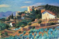 "A Riviera Hillside by William James Glackens - 33"" x 23"""