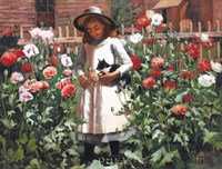 "In the Garden with the Cat by Pope & Cook - 26"" x 21"""