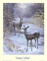 "Early Snow by Edward J. Bierly - 22"" x 28"""