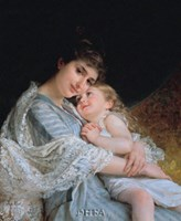 "Maternal Affection by Emile Munier - 22"" x 26"""
