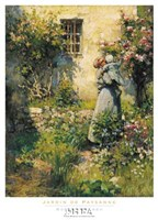 "Jardin de Paysanne by Robert William Vonnoh - 20"" x 28"""