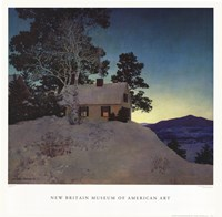 "Dusk by Maxfield Parrish - 23"" x 23"""