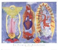 """La Virgen De Guadalupe by Rosa M. - 26"""" x 22"""", FulcrumGallery.com brand"""