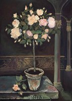 "Rose Topiary by Karel Burrows - 20"" x 28"""