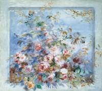 Roses dans une Fenetre Fine Art Print