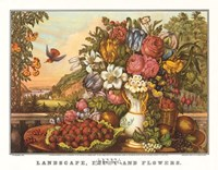 Landscape, Fruit and Flowers Fine Art Print