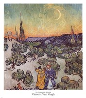 The Promenade, Evening by Vincent Van Gogh - various sizes