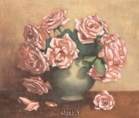 "French Cottage Roses II by Linda Hanly - 24"" x 20"""