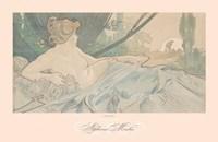 "Dawn by Alphonse Mucha - 30"" x 20"""
