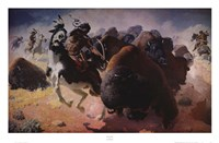 Buffalo Hunt Fine Art Print