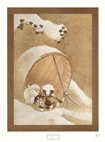 Puppies in the Snow Fine Art Print