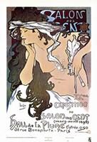 "Salon des Cent by Alphonse Mucha - 23"" x 34"""