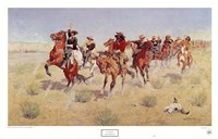 "Halt-Dismount by Frederic Remington - 32"" x 20"""