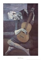 Old Guitarist Fine Art Print