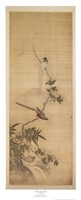 Birds on a Plum Blossom Framed Print