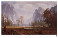 Looking Up The Yosemite Valley Fine Art Print